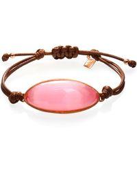 Ona Chan Jewelry - Lattice Corded Bracelet Pink Dark - Lyst