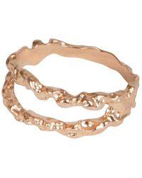 Matthew Calvin Double Meteor Ring In Rose Gold - Metallic