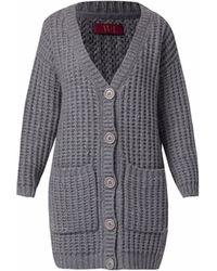 WtR - Chelsea Chunky Knit Cardigan Grey - Lyst
