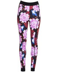 OKAYLA - High Waist Floral Legging - Lyst