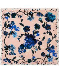 Klements - Medium Scarf In Gothic Floral Print - Lyst