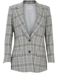 DANEH Plaid Adjustable Jacket - Grey