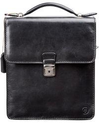 Maxwell Scott Bags | Luxury Italian Leather Men's Medium Shoulder Bag Santino Black | Lyst