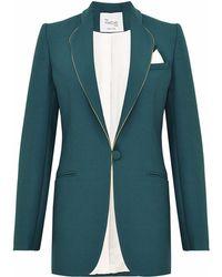 Hebe Studio - The Hebe Suit Dark Green Smoking Blazer - Lyst