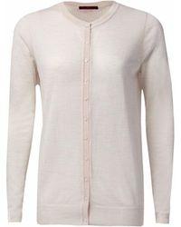 WtR - Marylebone Fine Knit Cardigan Birch - Lyst