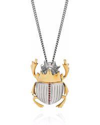 Yasmin Everley Gilded Scarab Necklace - Metallic