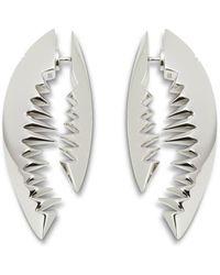 Kasun - Shark Bite Silver Earrings - Lyst