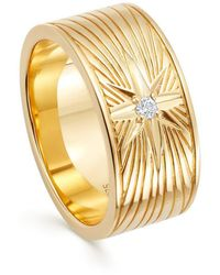 Astley Clarke Celestial Compass Ring - Metallic