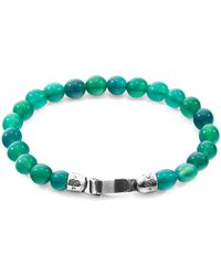 Anchor & Crew - Reen Agate Outrigger Silver & Stone Bracelet - Lyst
