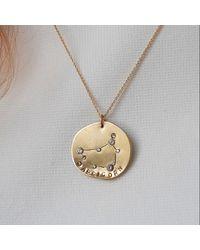 Lily Flo Jewellery Capricorn Solid Gold & Diamond Pendant Necklace - Metallic