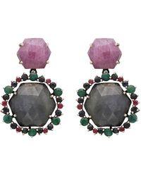 Carousel Jewels - Hexagons Sapphires Drop Earrings - Lyst