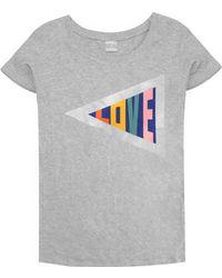 Orwell + Austen Cashmere - Love T-shirt Grey - Lyst