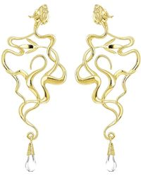 Ecrannium - The Golden Dragon Tree Earrings - Lyst