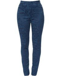 Lena Hoschek - Peggy Trousers Damast Royal - Lyst