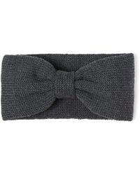Alma Knitwear - Bow Merino Earwarmer Dark Grey - Lyst
