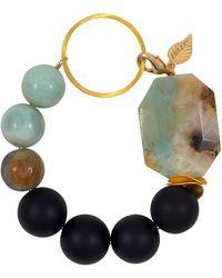 Magpie Rose - Green Amazonite & Black Onyx Vermeil Bracelet - Lyst