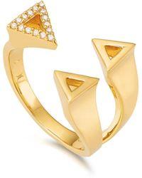 Kasané - Yellow Three Tri 50/50 Ring - Lyst
