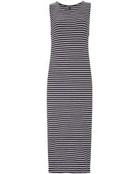 Baukjen Jordan Dress In Navy & White Rib - Blue