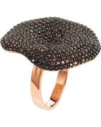 LÁTELITA London - Alessandra Cocktail Ring Rosegold Chocolate Cz - Lyst