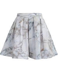 My Pair Of Jeans White Marble Skirt - Grey