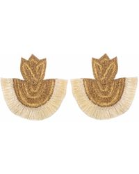 Wafa By Wafa - Cream Carissa Earrings - Lyst