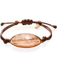 Ona Chan Jewelry - Lattice Corded Bracelet Gold - Lyst