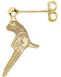 CarterGore - Gold Hand Gun Single Short Drop Earring - Lyst
