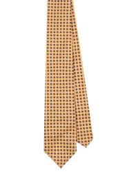 EZRA AMARFIO - Yellow Floral Print 36oz Foulard Silk Tie - Lyst