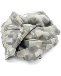 Doria & Dojola Camo Cotton Blend Foulard - Multicolour