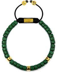 Clariste Jewelry - Men's Ceramic Bead Bracelet Green & Gold - Lyst
