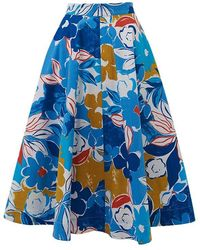 Emily and Fin Sandy Blue Asilah Floral Skirt