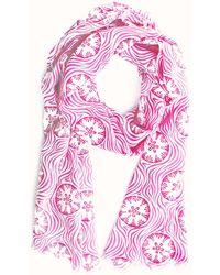 Pink House Mustique Lotty B Silk Crepe-de-chine Long Scarf - Multicolour