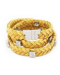 Tissuville Brio Bracelet Mustard Silver - Multicolor