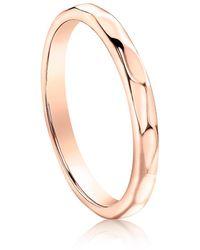 Neola Eternity Rose Gold Stacking Ring - Metallic