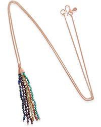 Vicky Davies Jewellery - Rainbow Tassel Pendant Rose Gold - Lyst