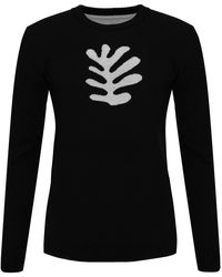 INGMARSON Organic Shape Merino Wool Sweater Women - Black