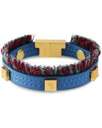 Tissuville Flik Mini Bracelet Azure Gold - Blue