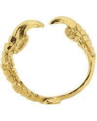 Tessa Metcalfe - Single Claw Ring Gold - Lyst