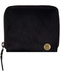 MAHI - Classic Ladies Coin Purse In Ebony Black Pony Hair Leather - Lyst