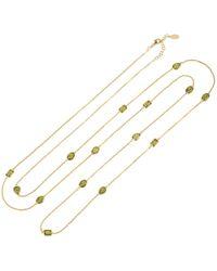 Latelita - Venice 120cm Long Chain Necklace Gold Peridot - Lyst