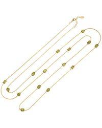 LÁTELITA London - Venice 120cm Long Chain Necklace Gold Peridot - Lyst