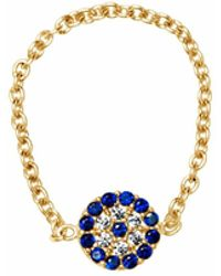 Talia Naomi | See No Evil Chain Ring Gold | Lyst