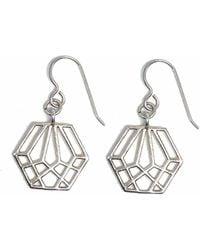Dream of Songs - Hexagon Earrings Silver - Lyst