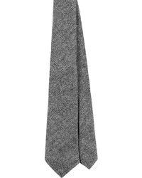 EZRA AMARFIO - Grey Herringbone Tweed Tie - Lyst