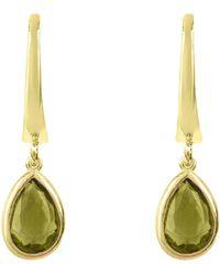 LÁTELITA London - Pisa Mini Teardrop Earring Gold Peridot - Lyst