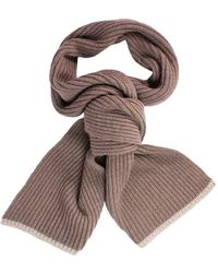 40 Colori | Beige Ribbed Wool & Cashmere Scarf | Lyst