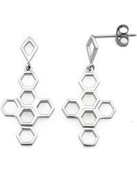 MONARC JEWELLERY - The Vita Hive Earrings Sterling Silver - Lyst