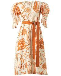 LITTLE THINGS STUDIO Coral Dress - Orange