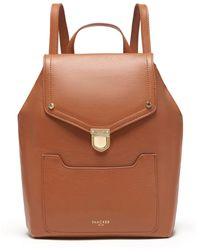 Thacker NYC - Frankie Backpack In Cognac & Gold - Lyst