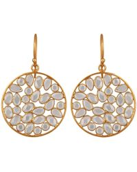 Carousel Jewels - Sliced Crystal Drop Earrings - Lyst